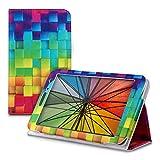 kwmobile Funda Compatible con Huawei MediaPad T1 7.0 - De Cuero sintético con Cierre magnético y Cubos Colores