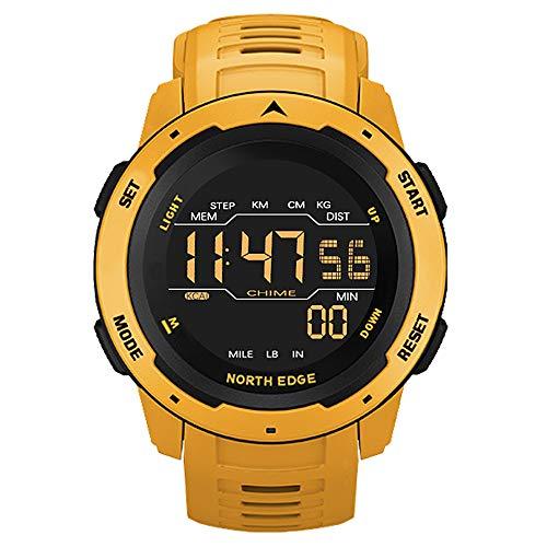 Lixada Reloj Digital para Hombre Reloj Deportivo Podómetro Reloj Despertador 50M Reloj Digital Impermeable