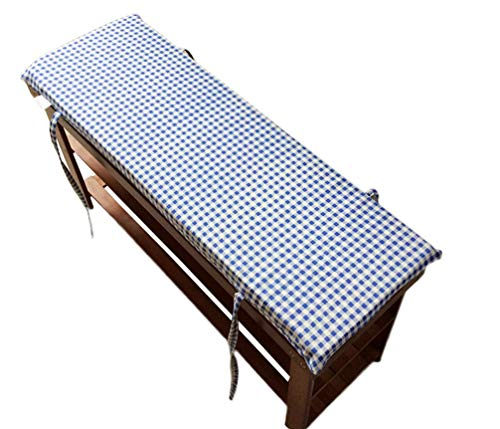 Cojín para banco de jardín, tatami para bancos de patio, muebles de palé, cojines de banco exterior, azul, 120x35cm