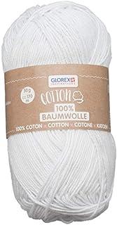 Glorex 5 1004 00 Coton 100% coton polyvalent pour tricoter, crochet et travaux manuels, très bonne qualité, doux et lavabl...