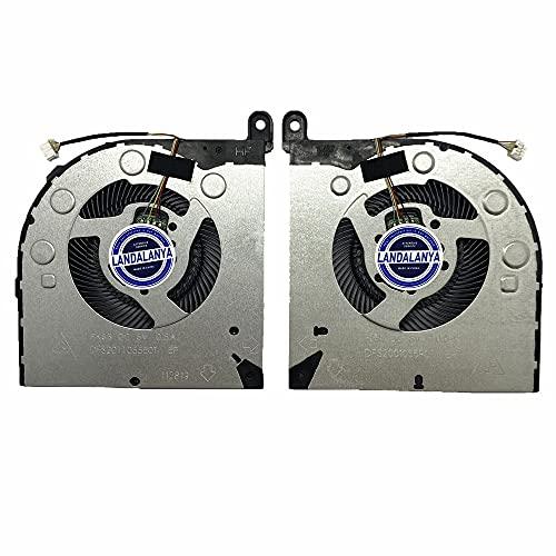 Landalanya Replacement New CPU+GPU Cooling Fan for Lenovo Legion Y730 Y730-17ICH Y730-15ICH Y740 Y740-17ICH Y740-15ICH Y740-17IRHg Y740-15IRHG Y9000K (2019) Series ND85C10-18B02 ND85C11-18B03 Fan