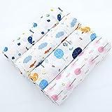 Mousseline Swaddle couvertures Poussette Coque Couverture Wrap 1,2x 1,2m bébé couvertures de réception pour garçons et filles rond Arbre Fox