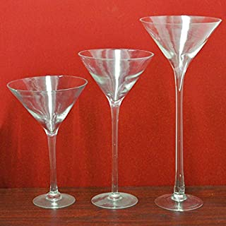 FIREFLY Tall Martini Glass Vase, 20-inch, 4-pack