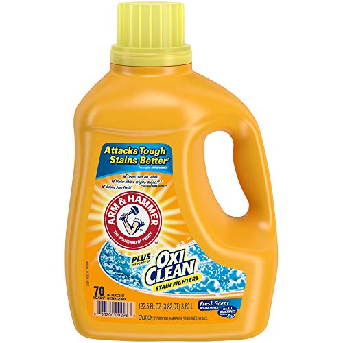 Arm & Hammer Liquid Laundry Detergent Plus OxiClean, Fresh Scent, 122.5 Oz