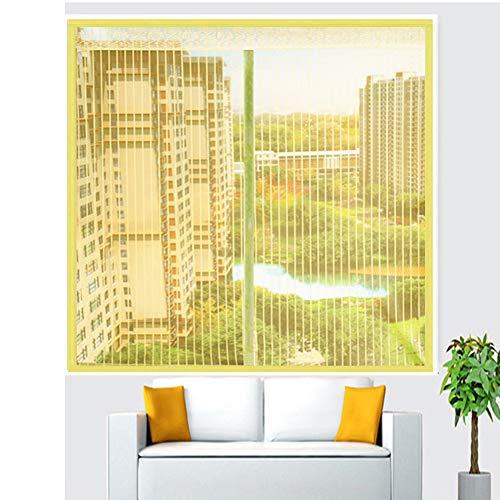 Rete magnetica autoadesiva per finestra, fai da te, con adesivi magici, in rete resistente, anti-zanzare, zanzariera, zanzariera, adatto per finestre maxi-200 x 180 cm