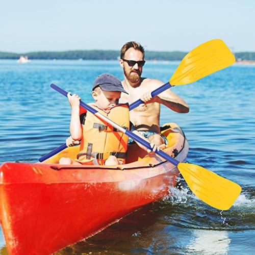 Xummy Remo de remo de kayak, remo inflable desmontable de PVC, remos de barco, 1 par de remos de kayak desmontable para surf, kayak, barco, remo de 120 cm de longitud (120)
