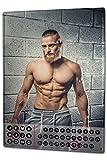 Leotie GmbH Calendario perpetuo Sexy Divertimento Uomo del Muscolo Magnetico