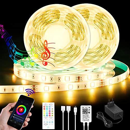 LED Streifen mit Fernbedienung 10m, Wifi Led Lichterkette, 5050 SMD RGB Led Leiste Klebeband mit APP Steuerung für TV, Wohnzimmer, Schlafzimmer, Küche und Party