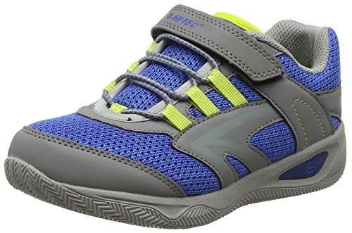 HI-TEC Thunder Junior, Chaussures de Randonnée Hautes Mixte Enfant, Gris (Grey/Cobalt/Limoncello 051), 32 EU