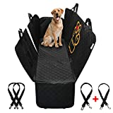 PET'ALMI - Dog Back Seat Cover Protector for Car Hammock Type with Zipper Waterproof Scratchproof Nonslip Protection Against Dirt and Pet Fur Durable Cover for Cars & SUV with Logo I Love My Labrador
