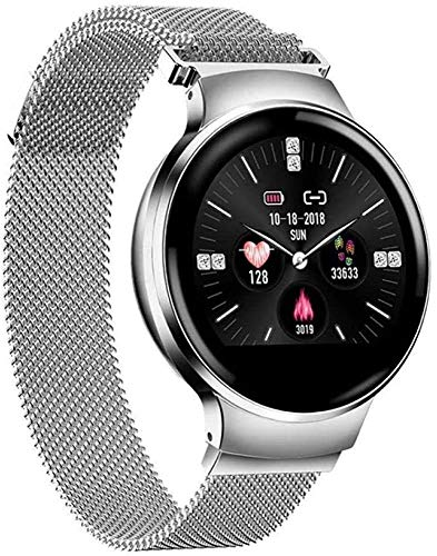 WXDP elektronische Uhr,Smart Bluetooth Uhr wasserdichte Uhr Mode 1.04In Blutdruck Herzfrequenz-Überwachung Armband Ladies Schlaf kann EIN Mädchen Smartwatch Android iOS-Vers