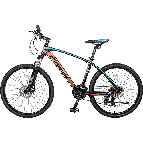 Laufee igh Timber Youth and Adult Mountain Bike, Aluminum and Steel Frame Options, Multiple Colors