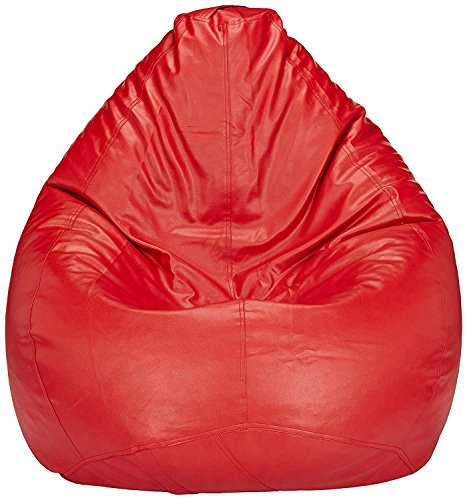 Bird's Nest Bean Red Bag XXXL Cover Gamer Recliner Beanbag Garden Seat Chair Cover for Outdoor and Indoor Water and Weather Resistant (Filling Not Included)