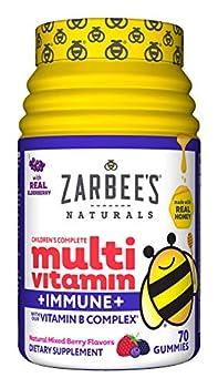 Zarbee s Naturals Children s Complete Multivitamin + Immune* Gummies Mixed Berry Flavors 70 Gummies
