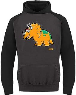 Hariz Triceratops - Sudadera de béisbol para niño, diseño de dinosaurio