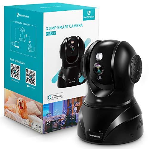 新バージョンHeimVision ネットワークWIFIカメラ1536P 300万画素Alexa対応 防犯 Wi-Fiカメラ 動体検知 暗視機能 警報通知 WIFI LANケーブ対応 双方向音声 録画可能 安全対策 ペット 子供 老人見守り 技適認証済み 日本仕様