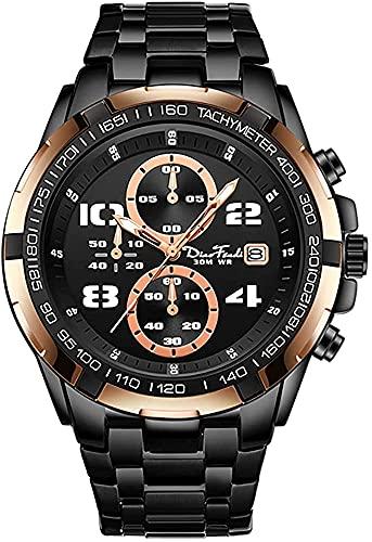 ZFAYFMA Reloj para Hombres, Reloj Mecánico 30M Cuarzo Impermeable, Pulsera de Acero Caja de aleación de Lujo Recuento automático de Lujo para Amante Rose Gold