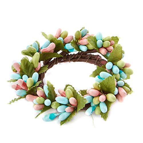 Factory Direct Craft 6 Pieces of Springtime Pip Berry Candle Ring