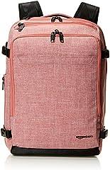 Amazon Basics - Mochila compacta de viaje, Rojo, para viajes de fin de semana