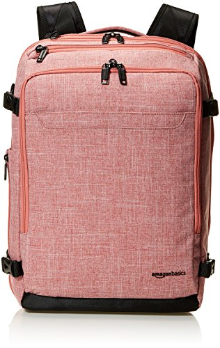 AmazonBasics Slim Carry On Travel Backpack, Salmon - Weekender