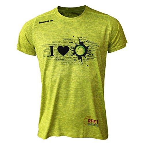 Luanvi Edizione Limitata, Maglietta Sportiva I Love Tennis Unisex – Adulto, Verde Pistacchio, M