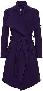 De La Creme - Women`s Winter Wool Cashmere Wrap Coat with Large Collar