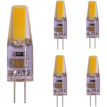 5X G4 LED Bombillas 2W Lámpara Bombillas Blanco Cálido 3000K COB LED Lámpara 200LM Equivalente a Lámparas Halógenas 20W AC/DC12V: Amazon.es: Iluminación
