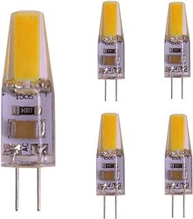 Bombilla LED para lámpara Bipolar G4, foco LED AC 220V 2W 1505 COB, equivalente a lámpara halógena de 20W, sin parpadeo, blanco cálido a prueba de polvo para candelabro, bote, 5 paquetes