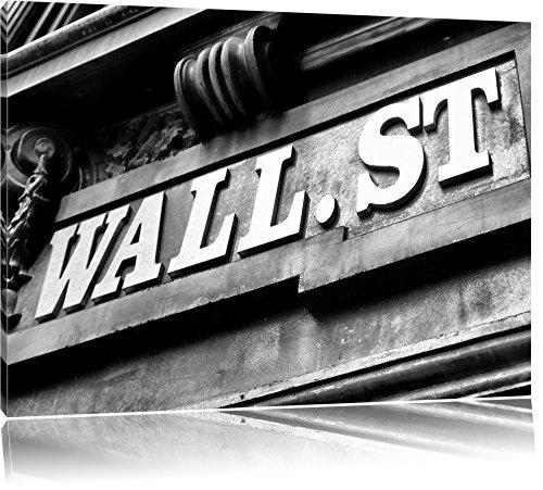 Pixxprint Wall Street à New York Art Toile 100x70cm Murale XXL