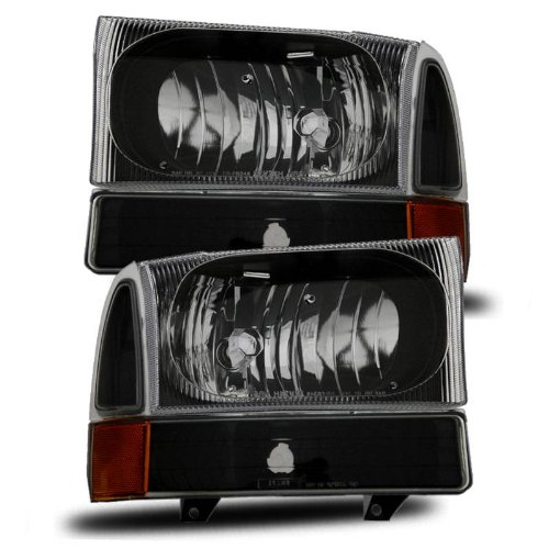 SPPC Black Headlights Assembly Set with Corner Light for Ford Excursion/Super...