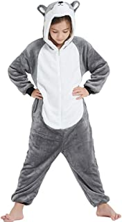 Vaomts Kid Animal Costume for Halloween Girls/Boys Fleece Onesie Novelty One Piece Pajama Sleepwear Party Cosplay