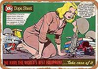 8 x 12 cm メタル サイン - 1961 ミリタリー コニー コミックの複製 メタルプレートブリキ 看板 2枚セットアンティークレトロ