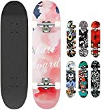 Smibie Skateboards Pro 31 inches Complete Skateboards for Teens Beginners Girls Boys Kids Adults, 7 Layer Maple Wood Skateboard