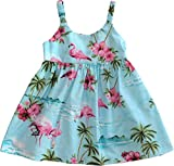 RJC Baby Girl's Flamingo Paradise Hawaiian Bungee Dress Blue 24-Months