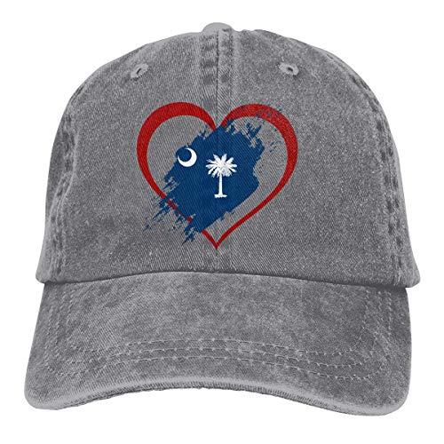 shenguang República Dominicana USA Heart Casquette Baseball Dicer Vintage Casquette Ajustable Cap Sombrero de Vaquero Función de sombreado Unisex