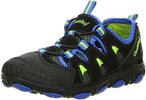 ConWay Kinder Trekkingschuhe Outdoorschuhe schwarz/blau, Farbe:Schwarz, Größe:32