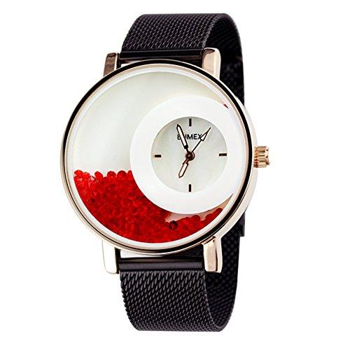 Armbanduhr,Quartz Uhr Gewebtes stahlband Bohrer Schwan l. Frauen Uhr Personalisieren Temperament Elegante-E