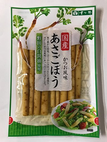 【常温】 国産 あさごぼう かつお風味 80g すが野   漬物 × 2パック
