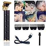 Pro T Outline Clippers Trimmer, Electric Pro Li Outline Trimmer T Blade Trimmer Grooming Cordless Rechargeable,Professional 0mm Baldheaded Zero Gapped Trimmer Hair Clipper for Men