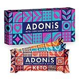Adonis Low Sugar Barritas de Nuez con Poco Azúcar - Selección Mixta | 100% Natural, Baja en Carbohidratos, Sin Gluten, Vegano, Paleo, Keto (Box of 6)