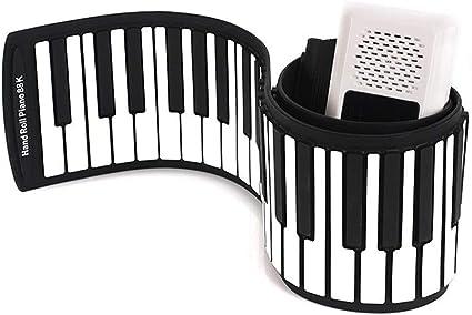 BESTSOON Roll Up Piano Principiante Espesado 88 Tecla Piano ...