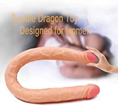 Double Ended Realistic Dìld`? Double Sided Dîld? Huge Size Ultra-Soft Dîld? Lifelike Silicone Dìld`? for Female Lésbian Women Couples Jxv042
