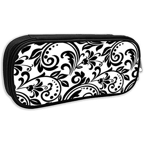 Potlood Pen Case Bag Pouch Houder voor School Office College, Bloemen Patroon. Behang Barok, Damask. Naadloze vector achtergrond