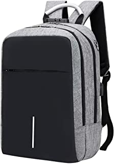 Laptop Backpack, Business Travel Backpacks with USB Charging Port & Headphone Hole, Water Resistant College School Computer Bag Grey