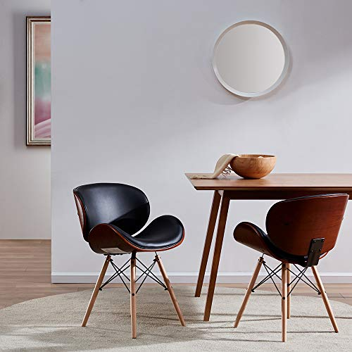 BELLEZE-Mid-Century-Upholstered-Faux-Leather-Walnut-Finished-Dining-Accent-Chair