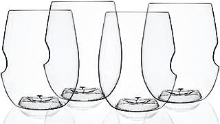 Govino Shatterproof Stemless Wine glasses, 12 Ounce, Set of 4