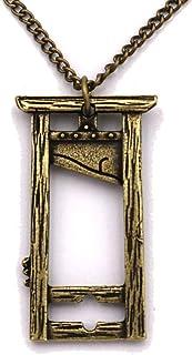 Guillotine Pendant Necklace for Men Women French Revolution Pendant Vintage Jewelry