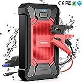 Yaber Battery Booster, 800Un 12000mAh IP66 impermeabile Battery Booster Auto Moto (Fino a 5,0 litri ...