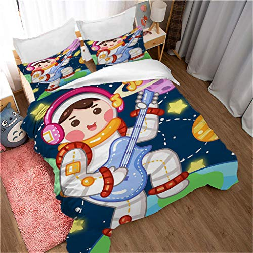 GLLCYL Three-Piece Bed 9D, Zipper Closure For Bedding, Ultra Soft Microfiber Double Size Christmas Decorations Bedroom Accersorieschristmas Eve Duvet Covers Double Bed - 220 * 240