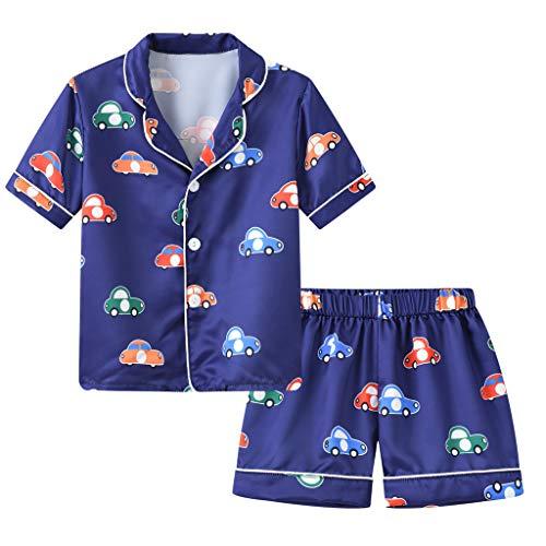Realde Baby Nachthemd Pyjama Jungen Mädchen Karikatur Drucken Kurzarm Tops Frühling Sommer Beiläufig Kurz Hose Schlafanzug Outfit Kleider Babykleidung Set